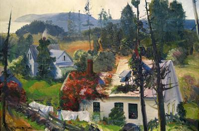 The Red Vine, Mantinicus Island, Maine by George Bellows