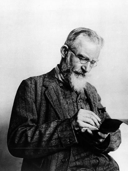 George Bernard Shaw, Illustration from 'The Illustrated London News', 1914--Photographic Print