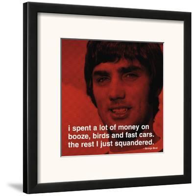 George Best: Money--Framed Art Print