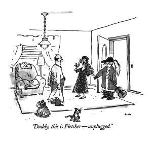 """""""Daddy, this is Fletcher?unplugged."""" - New Yorker Cartoon by George Booth"""