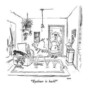 """Eyeliner is back!"" - New Yorker Cartoon by George Booth"