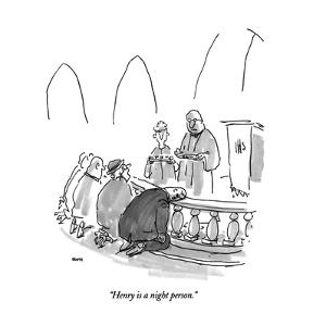 """""""Henry is a night person."""" - New Yorker Cartoon by George Booth"""