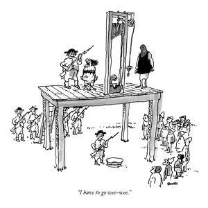 """""""I have to go wee-wee."""" - New Yorker Cartoon by George Booth"""