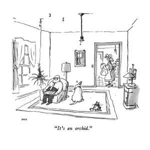 """It's an orchid."" - New Yorker Cartoon by George Booth"