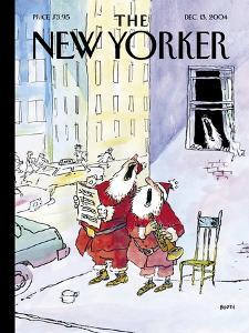 The New Yorker Cover - December 13, 2004 by George Booth