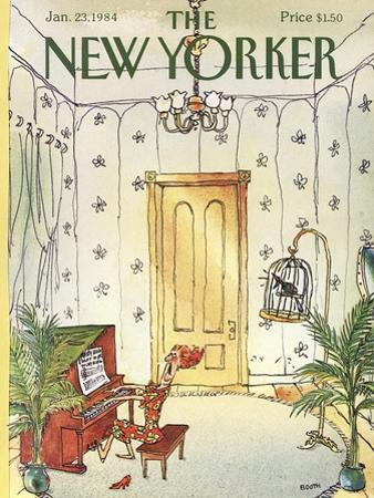 The New Yorker Cover - January 23, 1984 by George Booth