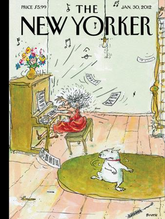 The New Yorker Cover - January 30, 2012 by George Booth