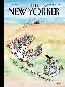 The New Yorker Cover - November 30, 2009 by George Booth