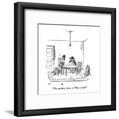 """""""The question, Leon, is: What is man?"""" - New Yorker Cartoon"""