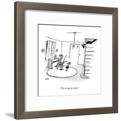 """The strings are catgut."" - New Yorker Cartoon"