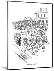 """""""There's more inside."""" - New Yorker Cartoon by George Booth"""