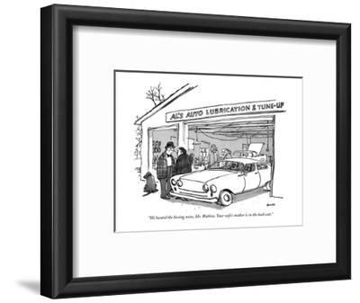 """""""We located the hissing noise, Mr. Watkins. Your wife's mother is in the b…"""" - New Yorker Cartoon"""