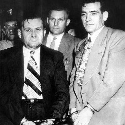 George 'Bugs' Moran and Virgil Summers, Booked at Dayton, Ohio, for $10,000 Holdup of Local Tavern--Photo