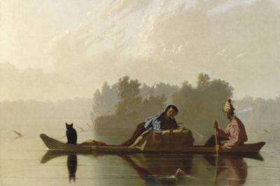 Fur Traders Descending the Missouri