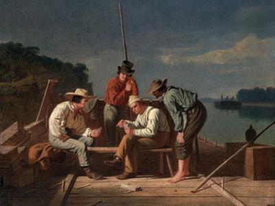 In a Quandary, or Mississippi Raftsmen at Cards, 1851