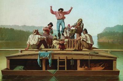 Jolly Flatboatmen by George Caleb Bingham