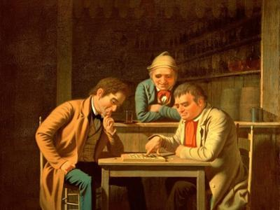 The Checker Players, 1850
