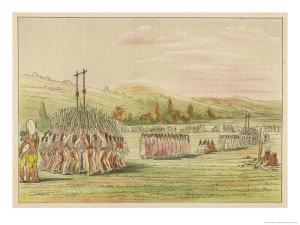 Ball-Play Dance by George Catlin