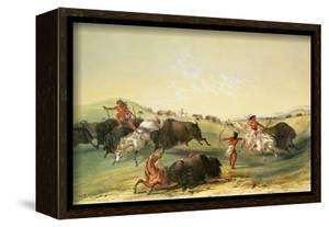 Buffalo Hunt, Plate 7 from Catlin's North American Indian Collection, by Mcgahey, Day and Haghe by George Catlin