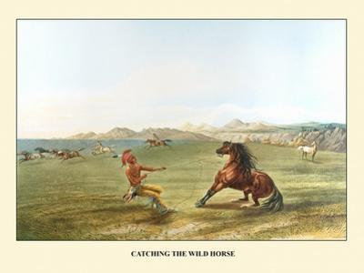 Catching The Wild Horse by George Catlin