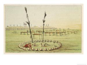 Cemetery of the Mandan People by George Catlin