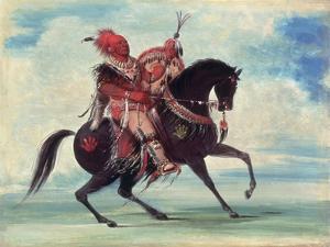Chief Keokuk, 1834 by George Catlin