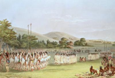 Choctaw Ball-Play Dance, 1834-35 by George Catlin