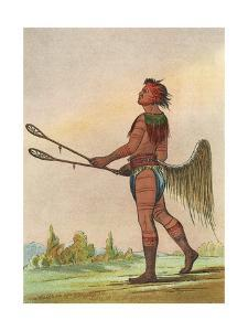 Choctaw, Lacrosse Player by George Catlin