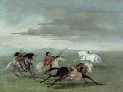 Comanche Feats of Martial Horsemanship, 1834 by George Catlin