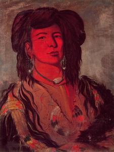 Head of Kate One Horn by George Catlin