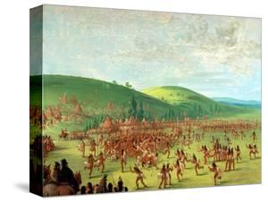 Indian Ball Game by George Catlin