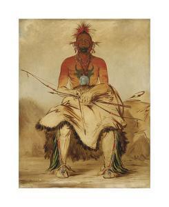 La-doo-ke-a - Buffalo Bull by George Catlin