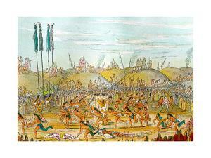 Last Race Ceremony Mandan O-Kee-Pa-George Catlin 1841 by George Catlin