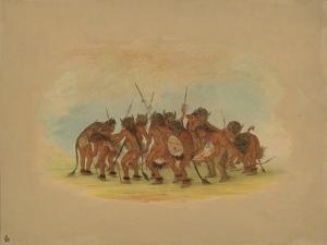 Mandan Buffalo Dance, 1861 by George Catlin