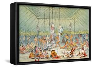 Mandan Ceremony by George Catlin