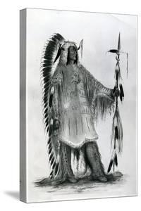 Mato-Tope, Second Chief of the Mandan People, C.1833 by George Catlin