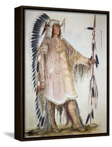 Mato-Tope, Second Chief of the Mandan People in 1833 by George Catlin