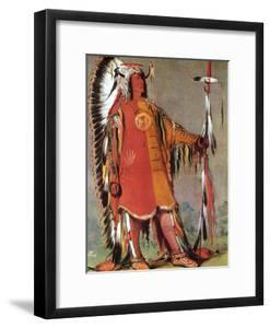 Mato-Tope, Second Chief of the Mandans, 1832 by George Catlin