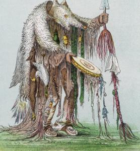 Medicine-Man of the Blackfeet People by George Catlin