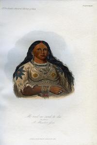 Mi-Neek-Ee-Sank-Te-Ka, the Mink, a Mandan Girl, 1848 by George Catlin