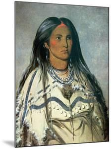Mint, a Mandan Indian Girl, 1832 by George Catlin