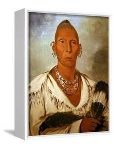Múk-A-Tah-Mish-O-Káh-Kaik, Black Hawk, Prominent Sac Chief by George Catlin