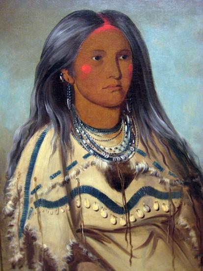 George Catlin Native American Maiden- Catlin-Art Print