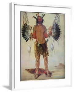 Old Bear Medicine Man of the Mandan Tribe, from a Painting of 1832 by George Catlin