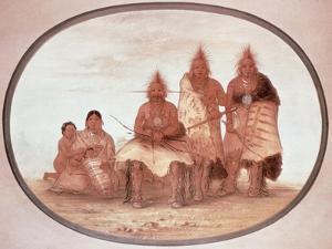 Pawnee Warriors, c.1832 by George Catlin