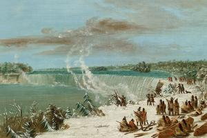 Portage around the Falls of Niagara at Table Rock, 1847- 48 by George Catlin