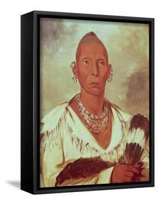 Portrait of Black Hawk, Indian Chief by George Catlin
