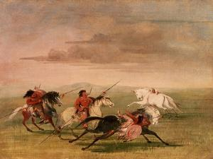 Red Indian Horsemanship by George Catlin