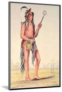 """Sioux Ball Player Ah-No-Je-Nange, """"He Who Stands on Both Sides"""", 19th Century by George Catlin"""