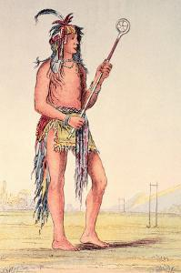 "Sioux Ball Player Ah-No-Je-Nange, ""He Who Stands on Both Sides"", 19th Century by George Catlin"